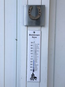 Thermometer reading -16C in Thermometer, Røros, Norway