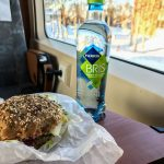 Trygstad Bakeri veggie sandwich for the train, Røros, Norway