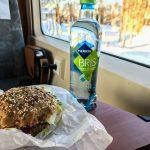 Trygstad Bakeri veggie sandwich for the train, Røros, Norway